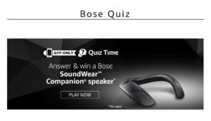 Amazon Bose Quiz