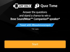 Amazon Bose SoundWear Companion Speaker Quiz Answers