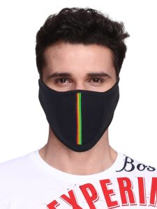 Amazon - Buy Big Tree C05A3006BK1XXCT Cotton Half Face Mask, All (Black)  at Rs 75 only