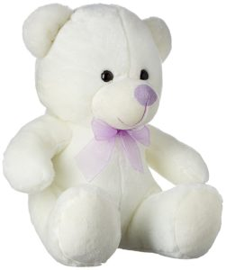 Amazon - Buy Dimpy Stuff Bear with Ribbon, Cream (33 cm)