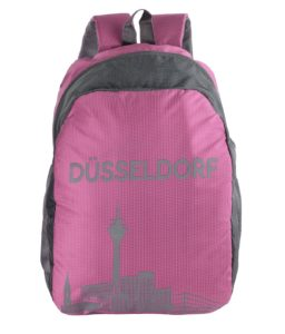Amazon - Buy Dussledorf Polyester 20 Ltr Pink Laptop Backpack at Rs 299