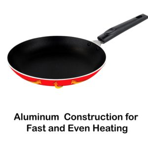Amazon - Buy Nirlon Classic Range Round Non-Stick Aluminum Mini Frying Pan, 20cm, Red at Rs 289 only