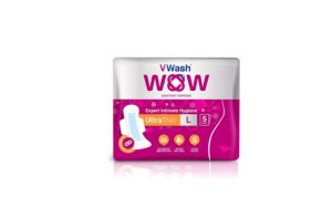 Amazon - Buy VWash Wow Sanitary Napkin Ultra Thin - 5 Count (Large)  at Rs 29