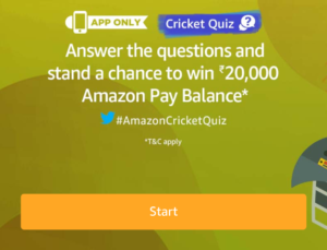 Amazon Cricket Quiz April Today