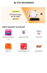 Amazon DTH Recharge Airtel Offers