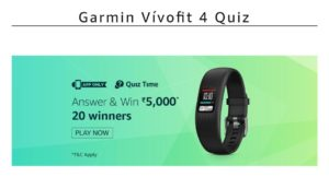 Amazon Garmin Quiz