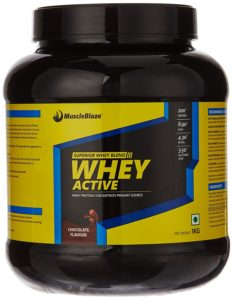 Amazon - Muscleblaze's Whey Active 1kg, Chocolate