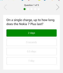 Amazon Nokia 7 Plus Quiz
