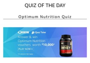 Amazon Nutrition Quiz Answer
