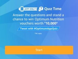 Amazon Optimum Nutrition Quiz Answers