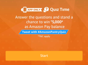 Amazon Pantry Quiz Answers