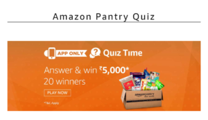 Amazon Pantry Quiz Answers Today April