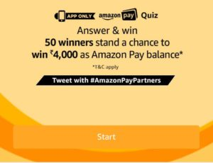 Amazon Pay Quiz 21 April Today