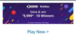 Amazon Riddles Quiz May Answers Today