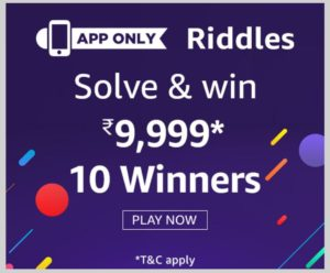Amazon Riddles Quiz Today Answers April