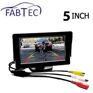 Amazon Steal - Buy Fabtec Premium Quality 5.0 Inch Full Hd Dashboard Screen With LED Night Vision Water proof Car Rear View Reverse Parking Camera With Microfiber Glove Free for Rs 145