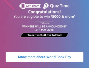 Amazon World Book Quiz
