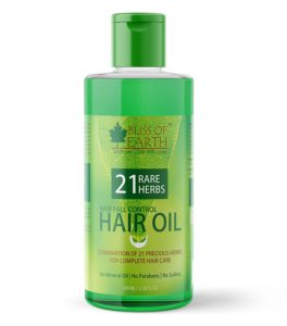 Bliss of Earth Hair Fall Control Hair Oil With 21 Rare Herbs 100ml