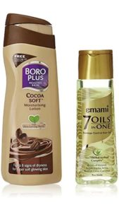 Boroplus Cocoa Soft Moisturizing Lotion 100ml With Emami Hair Oil Free
