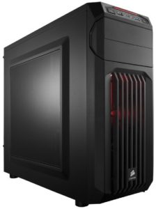 Corsair Carbide Series CC-9011050-WW Mid-Tower Steel Gaming Case with Red LED