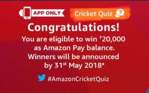 Cricket Quiz Week 2 April Today Answers