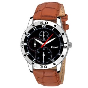 Espoir Analogue Black Dial Men's Watch - Chrono0507