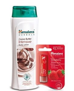 Himalaya Herbals Intensive Body Lotion, Cocoa Butter, 400ml with Shine Lip Care at rs.196