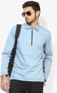 Jabong - Buy Blue Saint Blue Solid Casual Shirt at Rs 330 only