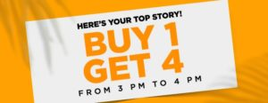 Jabong Steal - Buy 1 Get 4 on Clothing