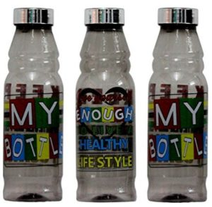 Kitchen Closet Apple Gray Colour 1 Liter Water Bottles (Pack Of 3) at rs.149