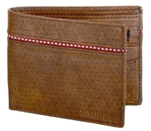 Laurels Mayhen Tan & Red Men's Wallet