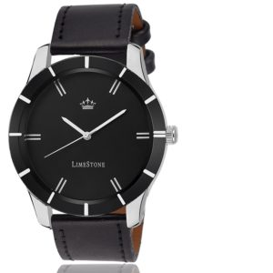 LimeStone Analogue Black Dial Round Casual Men's Watch
