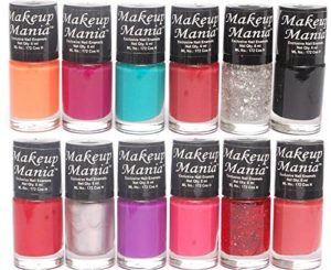 Makeup Mania Trendy Colors Nail Enamels - Combo Of 12 Pcs (Nail Paint Set # 86)