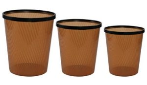 Miamour 3 Piece Plastic Dustbin at rs.278
