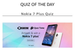 Nokia plus Quiz Today April