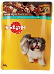 Pedigree Chunks Chicken, Liver 80 g Wet Dog Food at re.1