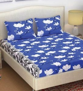 Pepperfry- Buy Fira 105 TC Cotton Queen Size Bed Sheet