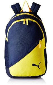 Puma 17 Ltrs Navy-Yellow Casual Backpack (7512103)