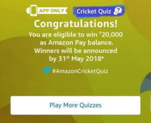 Quiz Cricket Answer Contest