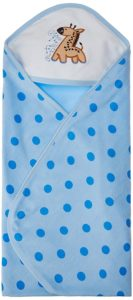 Tiny Care Baby Hooded Towel Terry Polka Dots (Blue)