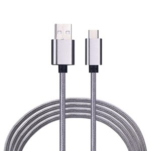 iPro Mc-20 Fast Charging Nylon Micro USB Data and Sync Cable (Silver)