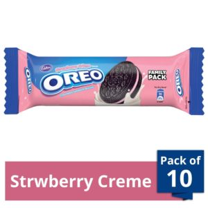 Amazon - Buy Cadbury Oreo Strawberry Crème Biscuit, 120 gm (Pack of 10) at Rs. 199
