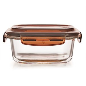 Amazon- Buy Cello Piedo Rectangle Glass Container with Lid, 340ml/7.1cm, Clear at Rs 260