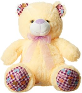 Amazon- Buy Dimpy Stuff Bear with Paws, Cream (43cm) at Rs 244