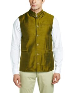 Amazon- Buy Freehand Men's Banded Collar Cotton Jacket at Rs 259