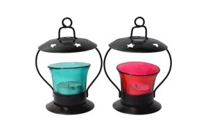 Amazon- Buy Frestol Iron T-Light Lamp (9.5 cm x 9.5 cm x 12 cm, Set of 2) at Rs 130