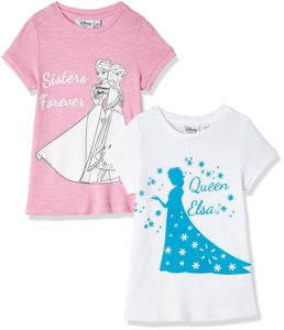 Amazon- Buy Frozen Girls' T-Shirt (Pack of 2) at Rs 279