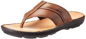 Amazon- Buy Hush Puppies Men's Track Tan light brown Leather Athletic Sandals - 8 UK at Rs 781