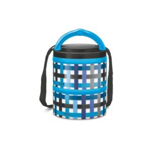 Amazon- Buy Milton Microwow Plastic Lunch Box Container Set, 250ml/129mm, 2-Pieces, Blue at Rs 275