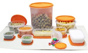 Amazon - Buy Princeware SF Package Plastic Container Set, 10-Pieces, Orange at Rs. 177